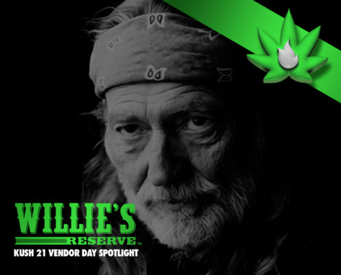 Willie's Reserve Cannabis at Kush21 Vendor Day in Seatac Washington