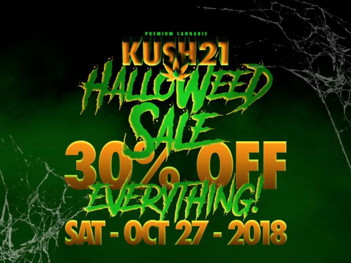 Cannabis Sale on Halloween at Kush21