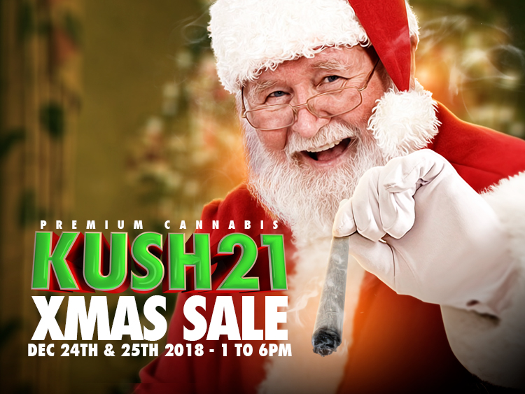 Kush21 Holiday Sale. Seatac Recreational Cannabis Specials.