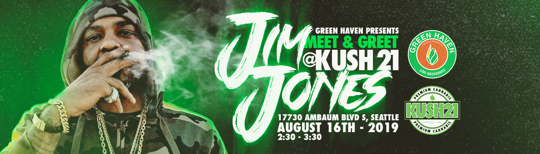 Jim Jones at Kush21 Burien