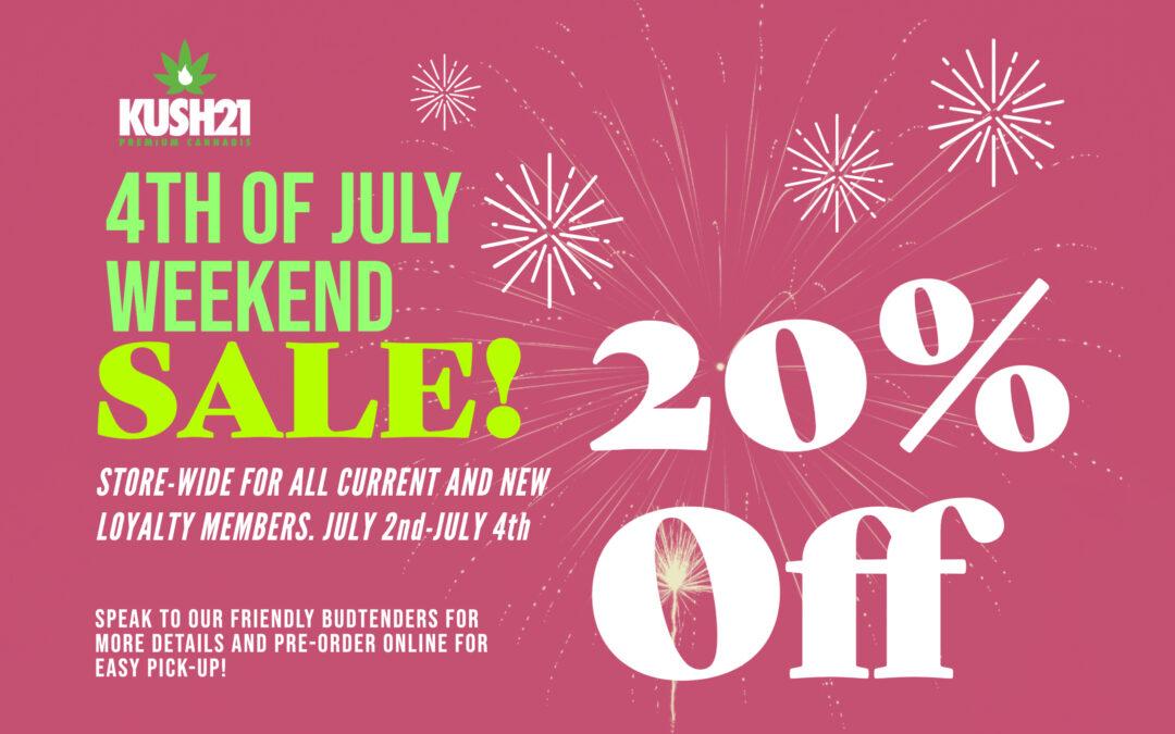 Kush21 4th of July Sale Starts Today!