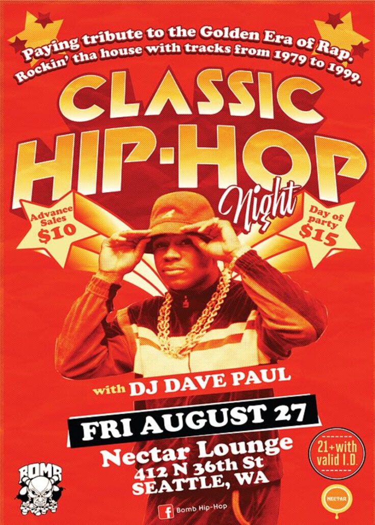 Seattle Summer Events - Classic Hip-Hop Night